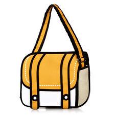3D Jump Style 2D Drawing Comic Backpack Shoulder Bag From Cartoon Paper Bookbag