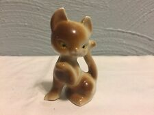 Vintage Siamese Kitten with Paw Extended Cat Small Miniature Ceramic Figurine