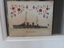 MALTE Maltais maritime navale naïf Antiquités Tissu/Textile broderie Galatea