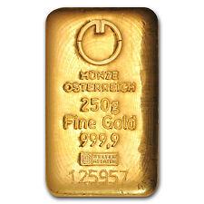 250 gram Gold Bar - Austrian Mint (Cast) - SKU #78385