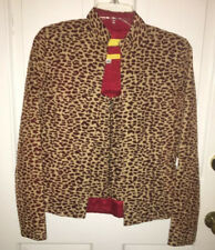 Flores & Flores matching jacket and zip front top size 4