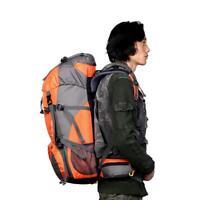 50L Etanche Multi-poches Zippées Sac à Dos de Randonnée de Bretelles Rembourrées