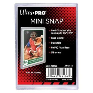 10 Ultra Pro Mini Snap Card Holders