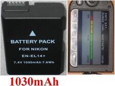 Batterie 1030mAh type EN-EL14 EN-EL14a VFB10602 VFB11402 Pour Nikon D3100