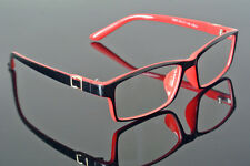 New Fashion Eyeglass Frame Black Red Spectacles Full Rim clear lenses Glasses Rx