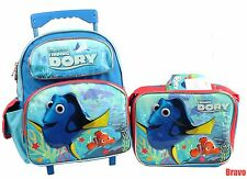 """Finding Dory 12""""  Rolling Backpack Bag With Lunch Bag 2 Pieces Sets"""