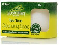 OPTIMA AUSTRALIAN TEA TREE CLEANSING BAR SOAP ANTI- BACTERIAL ALL SKIN TYPES 90g