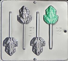 FROG CHOCOLATE LOLLIPOP MOULD  4 CAVITY