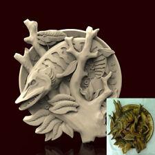 3d STL Model CNC AP024 (Plate Pike_Fish) Engraver Carving Machine Relief Artcam