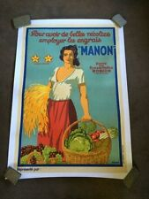 Original Vintage Lihograph French Food Poster From The 1930'S