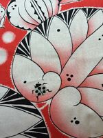 RPE322 Lotus Leaf Ladybugs Floral Graphic Bold Cotton Fabric Quilt Fabric