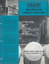 Equipment Brochure - Graver Tank Construction Chemical Industry - c1952 (E3317)