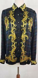 Escada by Margaretha Ley, Rare Vintage 100% Silk Blouse, Scotland, Size 34.