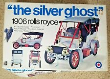 1/16 Scale The Silver Ghost 1906 Rolls Royce Model Kit Entex Sealed Parts