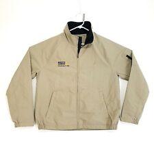 Nautica Jacket Mens Large Beige Boat Logo Sailing Team Scotty Gomez Foundation