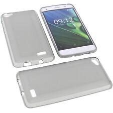 Tasche für Acer Liquid Z6E Handytasche Schutz Hülle TPU Gummi Case Grau