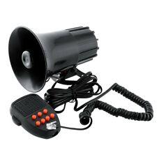Mega Sirene 7 Tons US Noir Avec Micro 12v - Haute Puissance 110dB