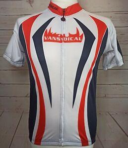 Vansydical Compression Dragon Men's Full Zip Cycling Jersey size Medium
