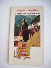 Patriotic Colored Vintage Winchester Ammo Brochure w Pres Eisenhower's Picture *