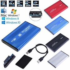USB 2.0 Hard Disk Case HDD Enclosure External Drive Cover Box For PC Laptop