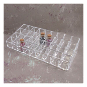 CLEAR MAKE UP STORAGE CONTAINER ORGANIZER LIPSTICK GLITTER CRAFTS BEAUTY HOLDER
