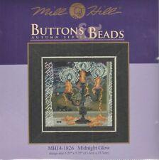 Halloween Midnight Glow Candlelabra Counted Cross Stitch Glass Bead Mill Hill