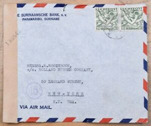 Mayfairstamps Suriname 1940s Paramaribo to New York Censored Cover wwk58411