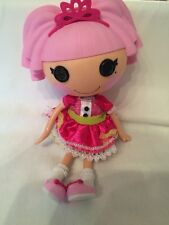 "Lalaloopsy Princess Jewel Sparkles Full Size Doll Retired Pink Hair Tiara 13"""