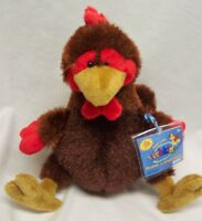 "Ganz Webkinz CUTE FUZZY ROOSTER 8"" Plush Stuffed Animal Toy NEW"