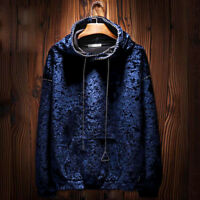 Fashion Mens Velvet Hoodie Coats Sweatshirt Pullover Casual Sweater Sport Jacket