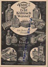 KÖLN, Werbung / Anzeige 1934, Nr. 4711 Tosca Parfum Eau de Cologne Creme Puder