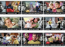 Star Trek TOS Heroes & Villains Kirk's Epic Battles 9 Card Chase Set GB1 to GB9