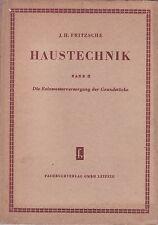 Haustechnik Band 2, Die Reinwasserversorgung der Grundstücke, Fachbuch 1953