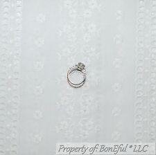 BonEful Fabric FQ Cotton Quilt VTG Antique Baby White EYELET Flower Embroidered