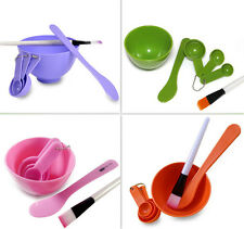 DIY Beauty Set Gauge Facial Mask Stick Bowl Brush Spoon 4 in 1 Beauty Tools Sets