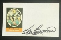 KEN BOWMAN NFL Green Bay Packers Football Auto Autographed Signed 3x5 Index Card
