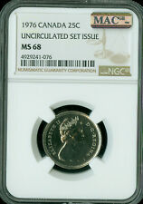 1976 CANADA 25 CENTS NGC MAC MS-68 PQ 2ND FINEST GRADE SPOTLESS .
