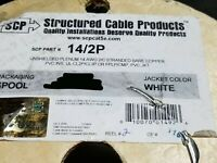 Structured Cable Products//SCP 14//2C Plenum Security//Alarm Cable White //100ft