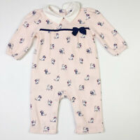 Janie and Jack Girls Kitty Cat One Piece Romper 0-3 Months Courtyard Blooms