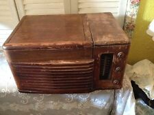 old radio record player