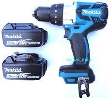 "Makita 18V XPH07 LXT Brushless 1/2"" Hammer Drill, (2) BL1830B Batteries 18 Volt"