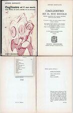 OCCULTISMO-CAGLIOSTRO ED IL SUO SECOLO-A.BORTOLOTTI-1969-EDIZIONE NUMERATA n°390