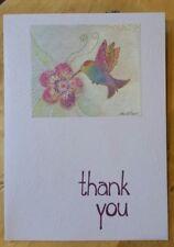 New Laurel Burch Hummingbird Thank You Card InterArt Card & Env