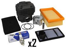 2 x Kit Cylinder Head Liner Pot & Piston, Air Filter, Plug Fits STIHL TS400