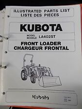(D) Kubota Front Loader / Chargeur Frontal Illustrated Parts List