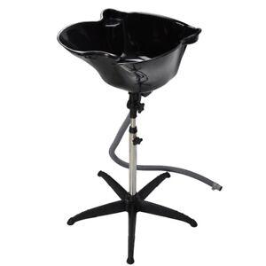 Height Adjustable Shampoo Basin Stand Hair Salon Portable Treatment Bowl Beauty