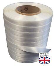Polyester Baling Tape 13mm x 250 Metre Rolls - Box of 8  - White - Baler Tape