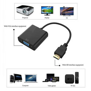 HDMI Male to VGA Female Converter Adapter Cable 1080P for PC HDTV DVD Laptop UK