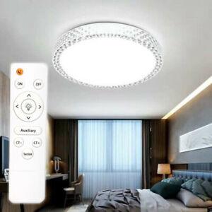 LED Deckenleuchte Deckenlampe 40cm Sterneffekt Glitzer-Lampe Kristall NEU Lampe