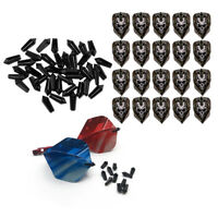 Standard Shape Dart Flights + 40Pcs Flight Protectors Savers Dart Accessory